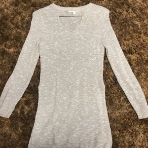 long, cut-out sweater